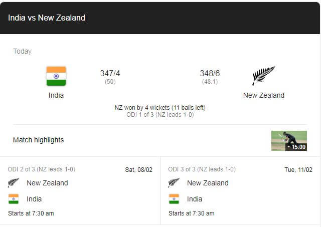 New Zealand vs India 1st ODI Highlights