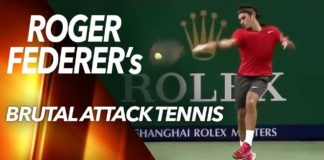 The Most Brutal Attacking Tennis by Roger Federer